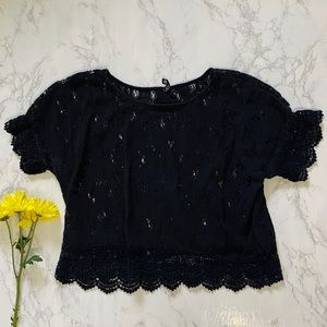 Divided by H&M black crochet lace 12